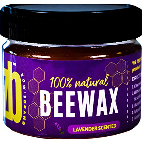 Wood Seasoning Beewax Polish, (Lavender Scent), Traditional Beeswax Polish, Wood Polish, Natural Wood Wax, Beeswax Polish for Furniture, Chairs, Wood and Metal (1-Pack) 2.9 oz