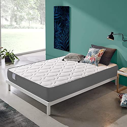 Dreaming Kamahaus Colchón ViscoRoll Gris Soft| Reversible | ViscoAir Pro y Soft Foam | Firmeza Blanda | ±20 cm Altura | 80 x 180 cm