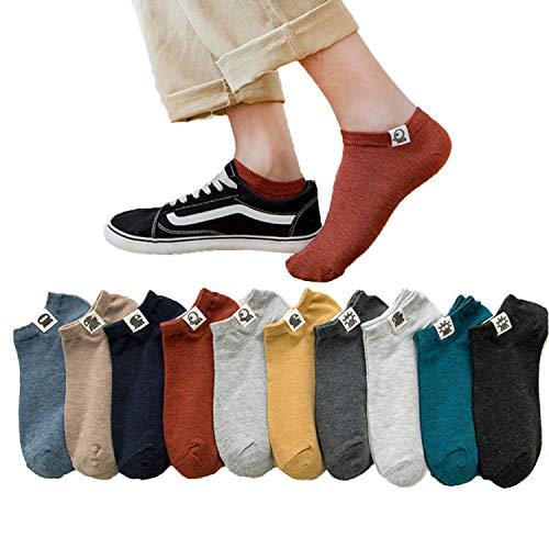10足 ソックス メンズ ショート コットン くるぶし 靴下 通勤 おしゃれ カジュアル カラフル 24-27 センチ