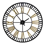 Amazon Brand - Umi Reloj de Pared Grande Hueco con números Romanos, 81,2 cm
