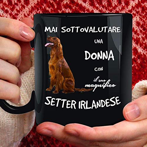 Taza de cerámica con diseño de perro Setter irlandés – 350 ml...