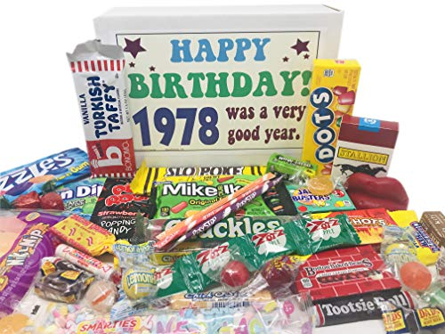 Woodstock Candy ~ 1978 42nd Birthday Gift Box Nostalgic Retro Candy Assortment from Childhood for 42 Year Old Man or Woman Born 1978 Jr