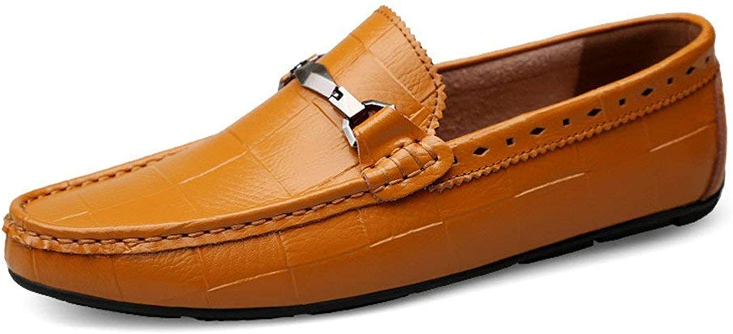 Oudan 2018 Mens Moccasins shoes, Mens Driving Moccasins Slip-on Genuine Leather Bare Vamp Loafers Comfortable Casual Driving Moccasins (color  Brown, Size  40 EU) (color   As shown, Size   One size)