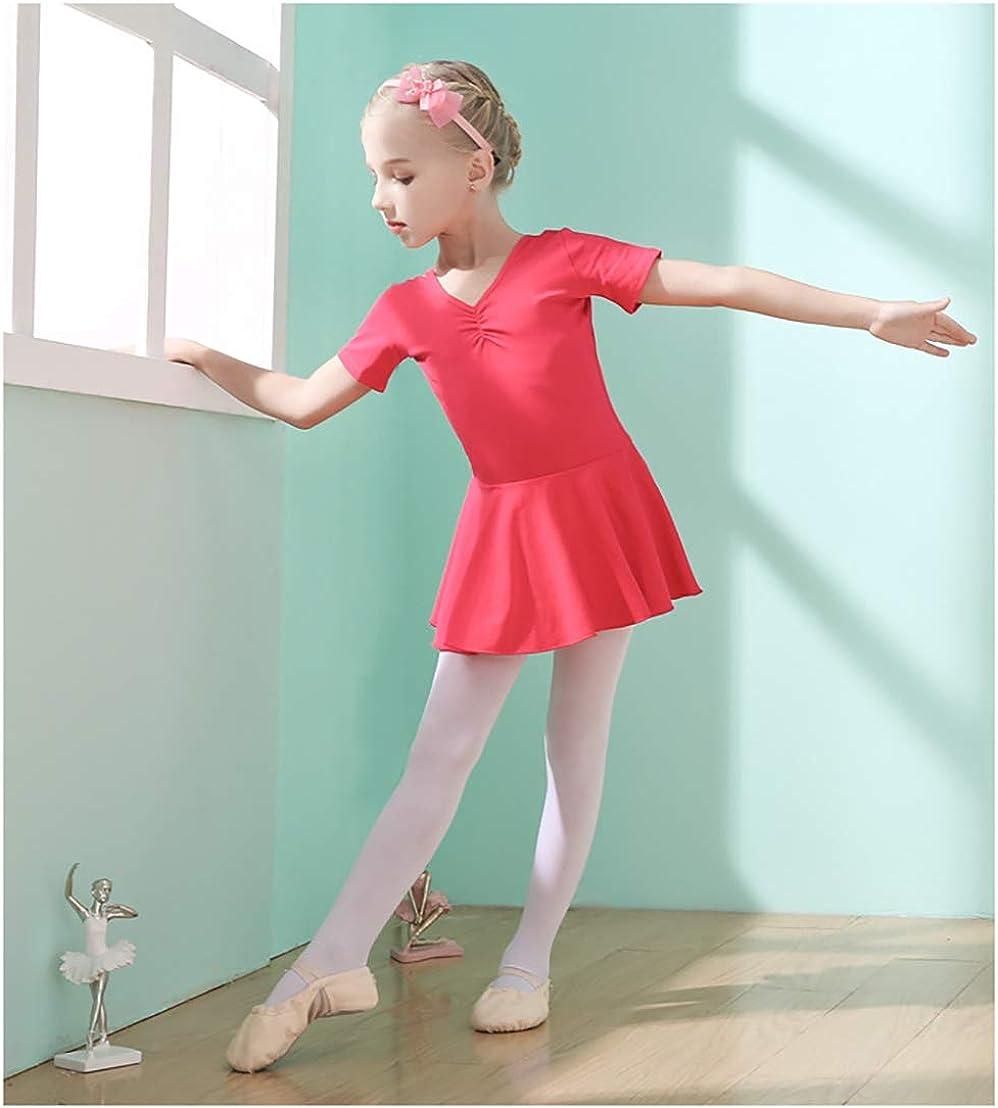 XIPAI Toddler Dance Leotard Short Sleeve Skirted Ballet Leotards for Girls