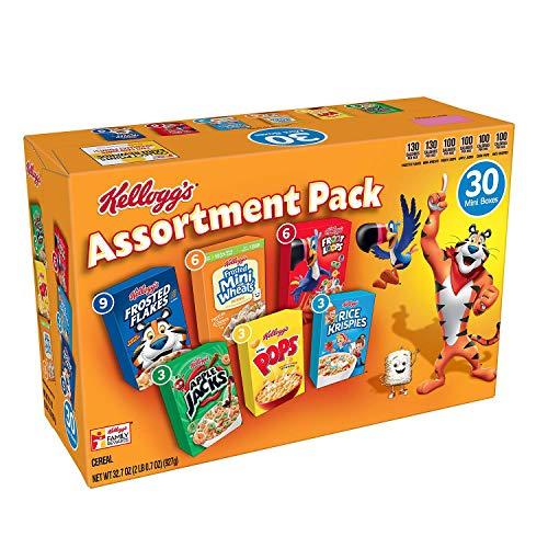 Kellogg#039s Jumbo Assortment Pack 327 oz 30 pk