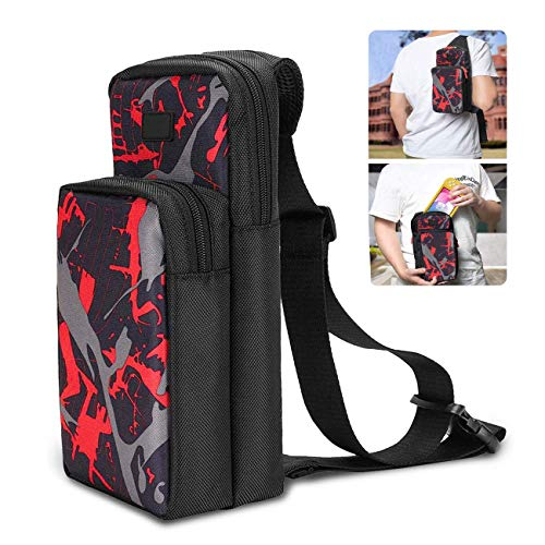 Travel Bag for Nintendo Switch, N-Switch Accessory Durable Shoulder Bag, Cross body Backpack with...