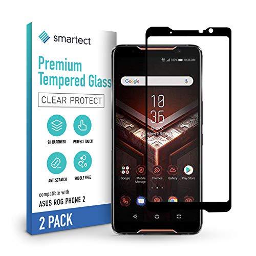 smartect Schutzglas kompatibel mit Asus Rog Phone 2 [2 STÜCK - FULL - CLEAR] - Tempered Glass mit 9H Festigkeit - Blasenfreie Schutzfolie - Anti-Kratzer Bildschirmschutzfolie