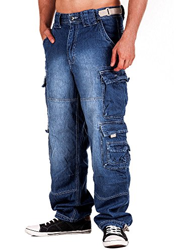 Jet Lag Hose Cargo Jeans light navy Style 007 4XL/32