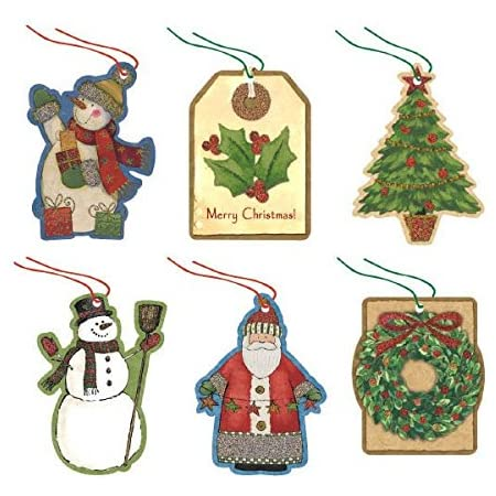 Christmas Gift Tags Cavallini Vintage Style Christmas Tags