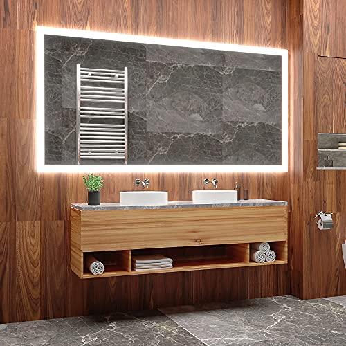 ARTTOR Espejo con Luz - Espejos De Baño - Decoracion Hogar - Espejos Decorativos - Muchos Tamaños - Pequeños y Grandes - Rectangulares y Cuadrados - M1ZP-50-100x70