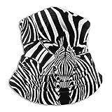 Uosliks - Bufanda para cuello con diseño de animales salvajes, a rayas, color blanco y negro, 26 cm x 30 cm, protección UV