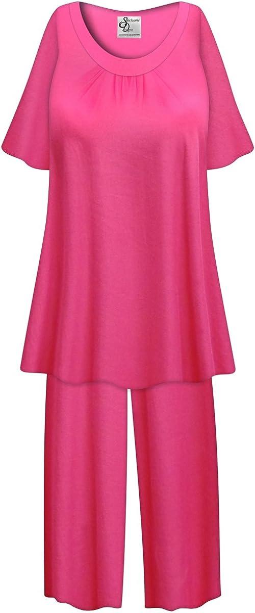 Sanctuarie Designs Solid Navy Plus half Pajamas Poly 2-PC Size Memphis Mall Cotton