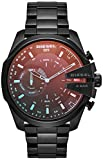 Diesel On Men's Mega Chief Black IP Stainless Steel Hybrid Smartwatch DZT1011, Color: