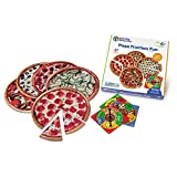Learning Resources Pizza Fraction Fun Game, 13 Fraction Pizzas, 67 Piece Game, Ages 6+