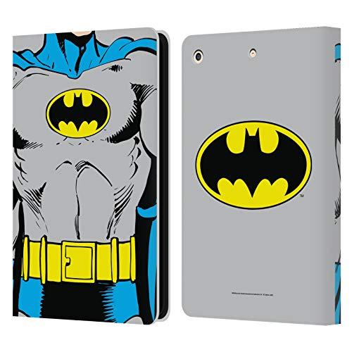 Head Case Designs Oficial Batman DC Comics Disfraz clsico Logotipos Carcasa de Cuero Tipo Libro Compatible con Apple iPad Air (2013)