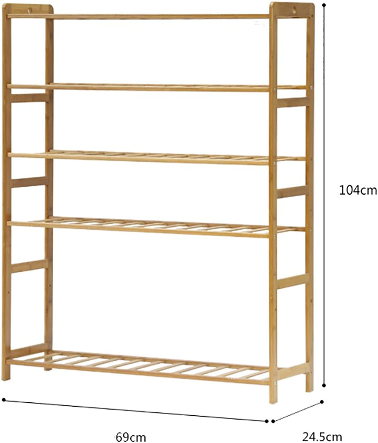 shoes Bench Organizing Rack Solid Wood shoes Rack, Simple Five-Storey shoes Cabinet, Multi-Functional Slippers Rack, Economical Home shoes Rack, Boots Storage Rack (color   B)
