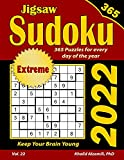 2022 Jigsaw Sudoku: 365 Extreme Puzzles for Every Day of the Year : Keep Your Brain Young (Game Calendars Series)