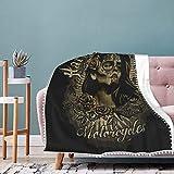 Harley Davidson Manta suave y transpirable manta de cuna para bebé, manta doble perfecta universal 50 x 40 pulgadas