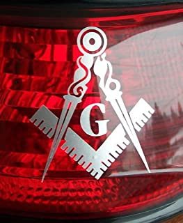 masonic tail light stickers