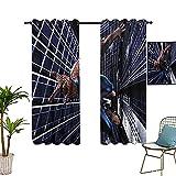 Cortina de aislamiento Superhero Spider_man Classic Action utilizada en la sala de estar mejorada cortina dormitorio 183 x 243 cm
