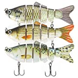 Fishing Lures for Bass Trout 6 Segment Lifelike Multi Jointed Swimbaits Slow Sinking Bionic Swimming Lures Freshwater Saltwater Bass Fishing Lures Kit
