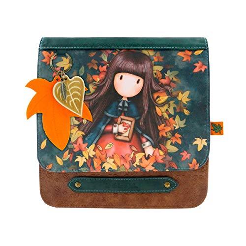 Santoro Gorjuss Damen 1024GJ01 Schulranzen Herbstlaub Tasche, Grün, Pequeño