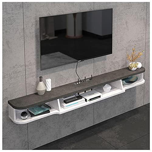 WFENG Mueble Suspendido/Flotante para TV Armario,Gestión de Cables/Ahorro de Espacio,Robusto y Duradero-Fuerte Capacidad de Carga/B / 120×20×16cm