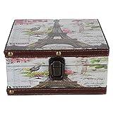 Alvinlite Caja de Almacenamiento Retro Estuche de decoración de Estilo británico Joyero Vintage para certificados de joyería Accesorios de fotografía