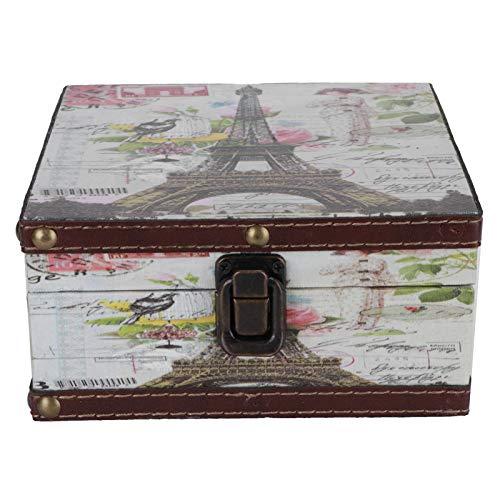 zhuolong Joyero Retro Caja de Almacenamiento Retro Estuche de decoración de Estilo británico para certificados de joyería Accesorios de fotografía