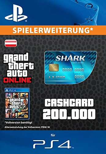 Grand Theft Auto Online | GTA V Tiger Shark Cash Card | 200,000 GTA-Dollars | PS4 Download Code - österreichisches Konto