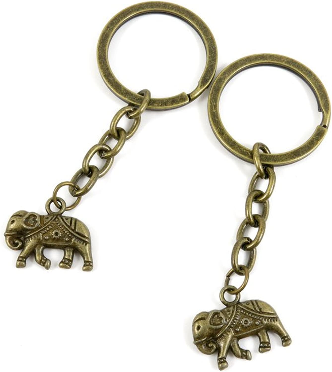 170 Pieces Fashion Jewelry Keyring Keychain Door Car Key Tag Ring Chain Supplier Supply Wholesale Bulk Lots A1KY2 Thai Elephant