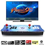 2700 Arcade Video Games Console, SeeKool Pandora's Box 9D Multiplayer Home Joystick Arcade Console, Customized Buttons, 1280x720 Full HD, Advanced CPU, Support PS3, Compatible with HDMI and VGA
