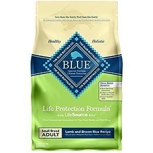 Blue Buffalo Life Protection Formula Natural Adult Small Breed Dry Dog Food, Lamb and Brown Rice 6-lb