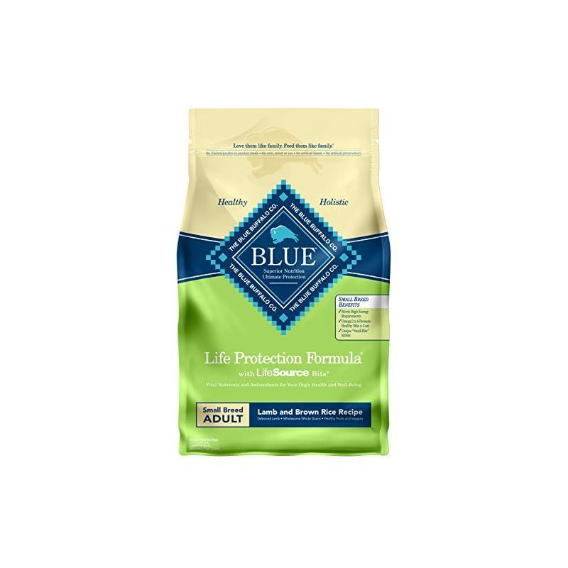 dog supplies online blue buffalo life protection formula natural adult small breed dry dog food, lamb and brown rice 6-lb