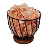 Best Himalayan Salt Lamps - Himalayan Rock Salt Metal Basket Table Lamp Review