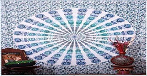 LinZX 210x150cm bewegliche bewegliche Boho Mandala Chiffon Tapisserie Wandbehang Bett Manta Strandtuch 3 Farben,Sky Blue
