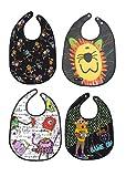 Tris&Ton Pack de Baberos Babero impermeable sin mangas para bebe niño niña con dibujos animados modelo 4 (Trisyton)