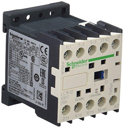 Schneider LC1K1210P7 Leistungsschütz, 3p+1S, 5,5kW/400V/AC3, 12A, Spule 230V 50/60Hz