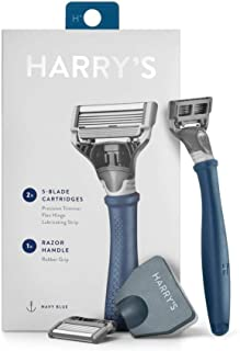 Harry's Razor With 2 Blade Cartridges Navy Blue