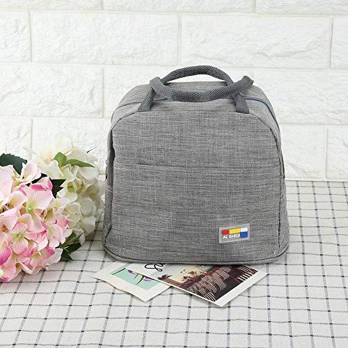 𝐖𝐞𝐢𝐡𝐧𝐚𝐜𝐡𝐭𝐬𝐠𝐞𝐬𝐜𝐡𝐞𝐧𝐤 Isolierte Tasche, Innenfolie Innenverdickung Wärmeisolierung Lunch Bag, 25x20x15cm für Office Picknick Camping Student(light grey)