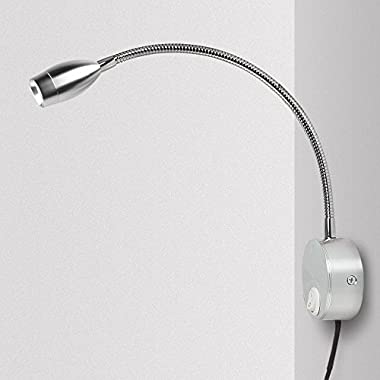 Reading Light for Books in Bed, Bedside Reading Lights Minimalist LED Bed Reading Lamp Headboard Wall Surface Mount (3W, Warm White)