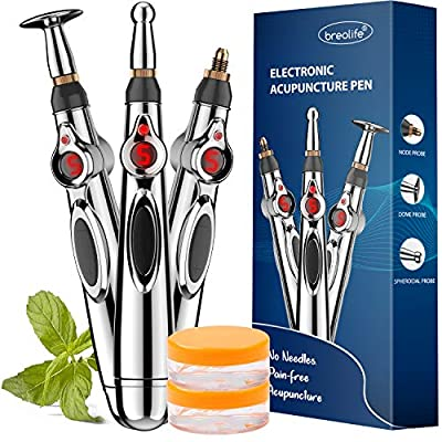 Acupuncture Pen, Electronic Acupuncture Pen, Pain Relief Therapy, Meridian Energy Pulse Massage Pen, Powerful Meridian Energy Pen Relief Pain Tools, 1 x AA Battery (Not Included)