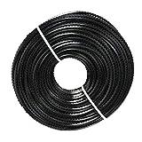 Cable de Cortador de Cepillo de Línea de Nylon Universal de 3 Mm * 50 M Para Hierba Y Malezas Sobre Crecidas - Forma de Diente de Sierra, Negro