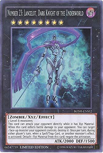 top 10 top xyz monsters Yu-Gi-Oh! No. 23: Lancelot The Dark Knight of the Underworld-BOSH-ENSE2-Super Rare-Limited Edition