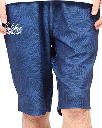 [ガッチャ] GOTCHA パンツ UVカット 吸水速乾 総柄 イージー ショーツ 212G1921 ネイビー XXL