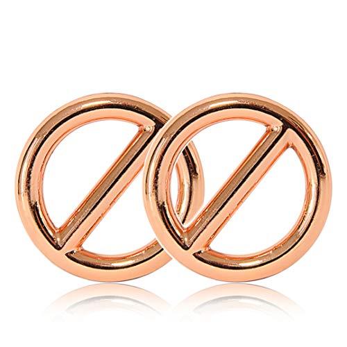 Ganzoo O - ring met brug van staal, 2-delige set, DIY hondenlinnen/hondenhalsband, roestvrij, steg-ring ideaal met Paracord 550, gelast, kleur: roségoud