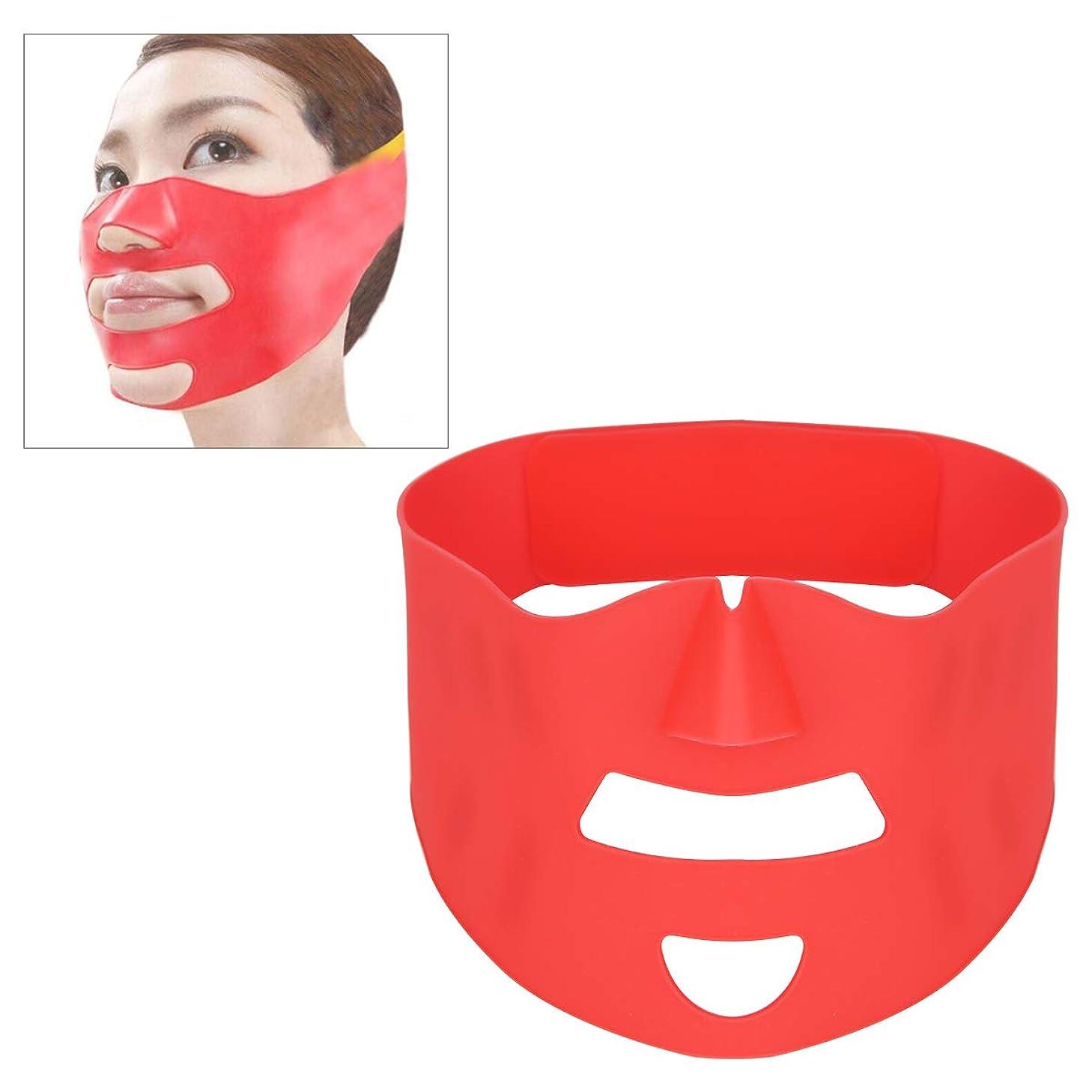 相談睡眠メアリアンジョーンズフェイスベルト 小顔 マスク リフトアップ 美顔 シリコン 抗しわ 皮膚改善 軽量 引き締め 引き上げマスク