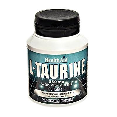 HealthAid L-Taurine 550mg - 60 Tablets