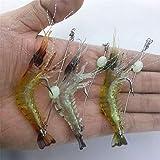 Lure 10CM 3-Colors 3PCS Luminous Soft Lures Artificial Shrimp Lures/Hooks Wlures...