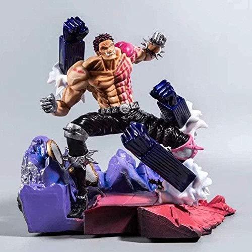 YYHJ Anime Figur Modell Spielzeug One Piece Action Figur-Ruffy-Charlotte Katakuri-Schlacht Szenen-27-32cm-statue-dekoration-modell Geschenk Ruffy Freund Geschenk Sammlung